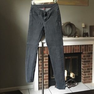H & M stonewashed black skinny jeans 2 R